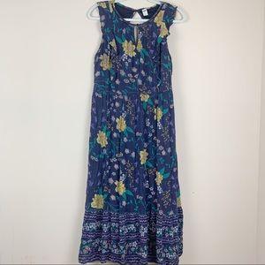 Old Navy Floral Maxi Dress Navy Blue Size LG